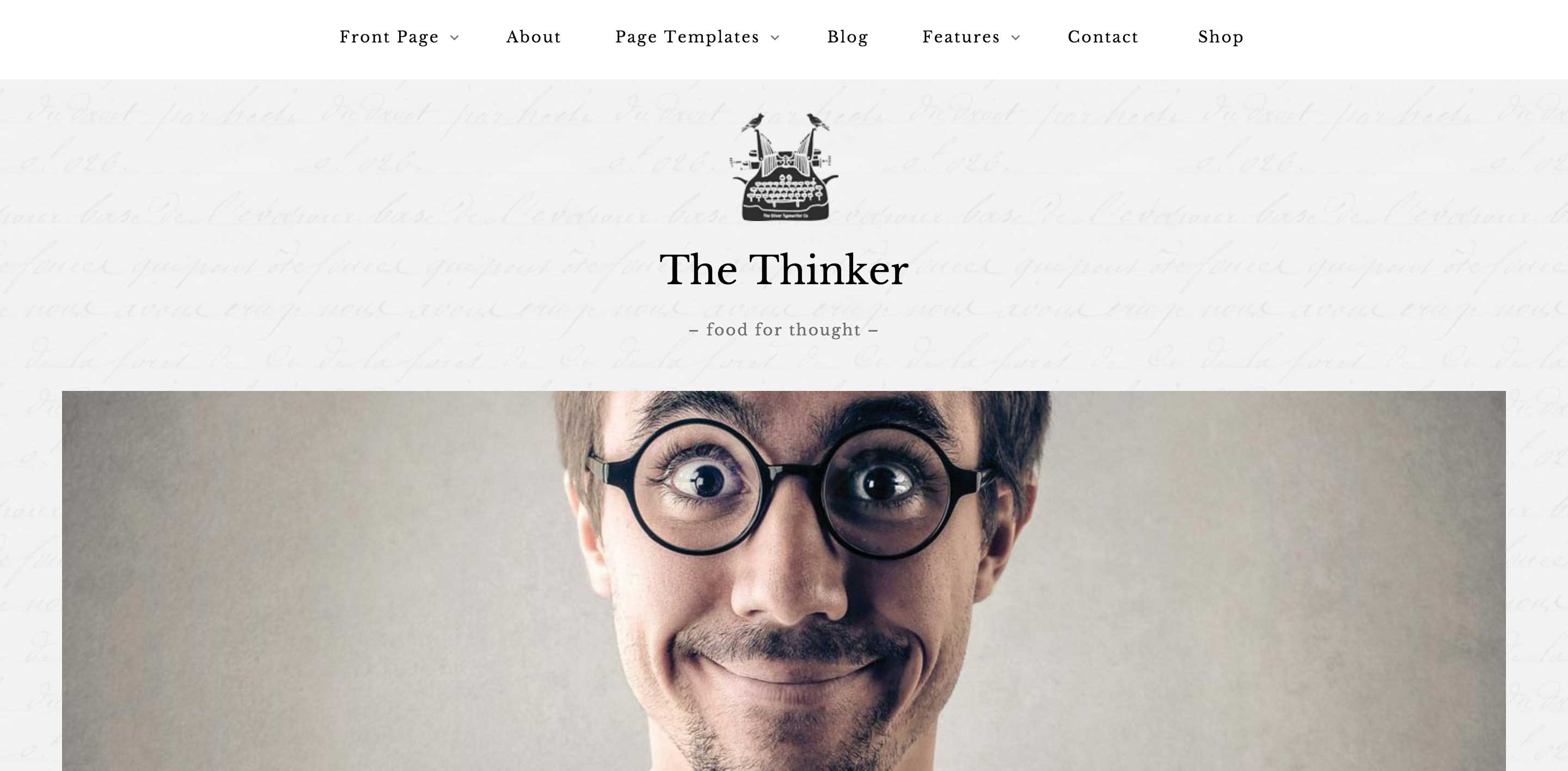 the thinker wordpress themes for writers
