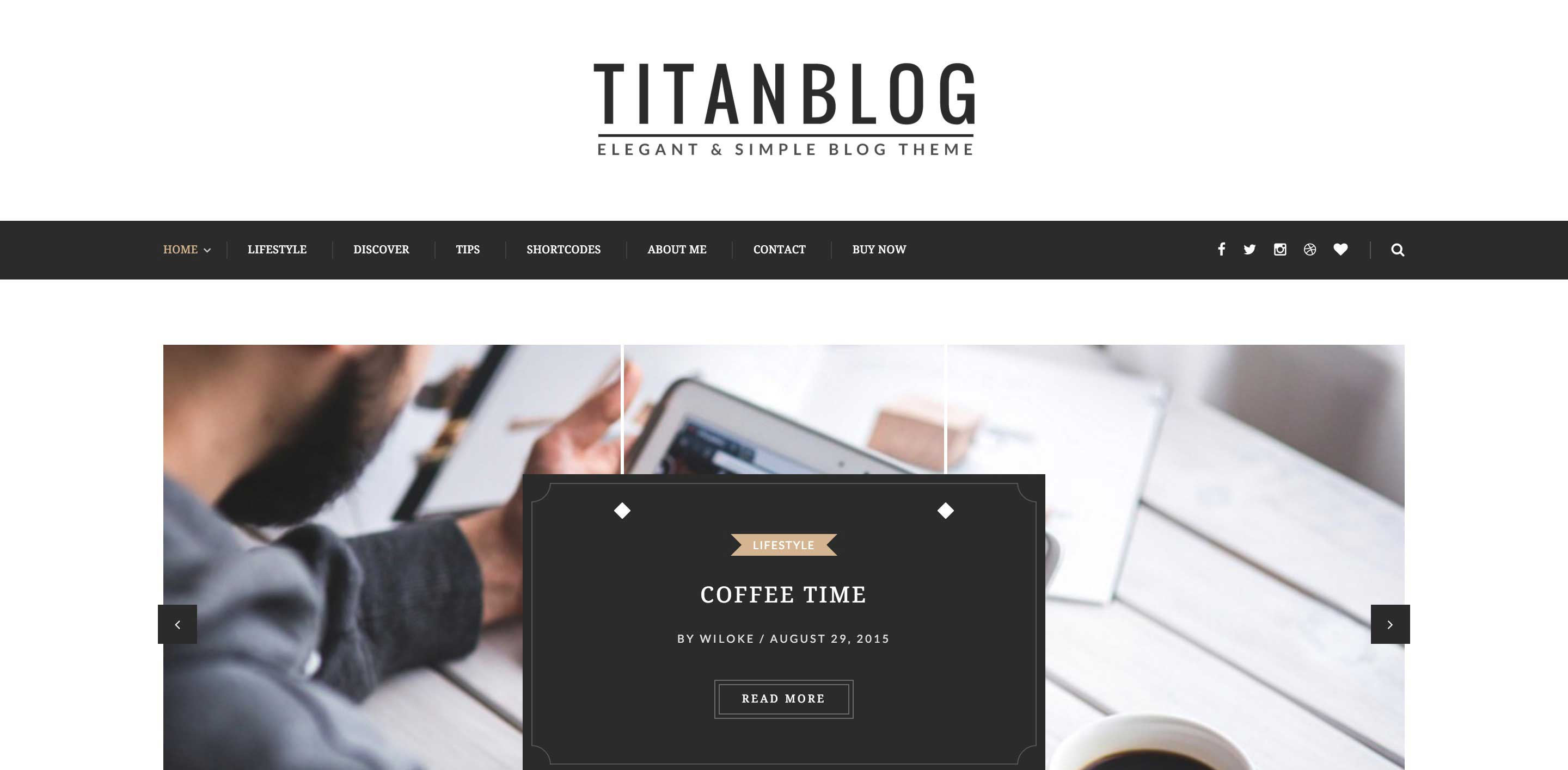 titan wordpress themes for writers