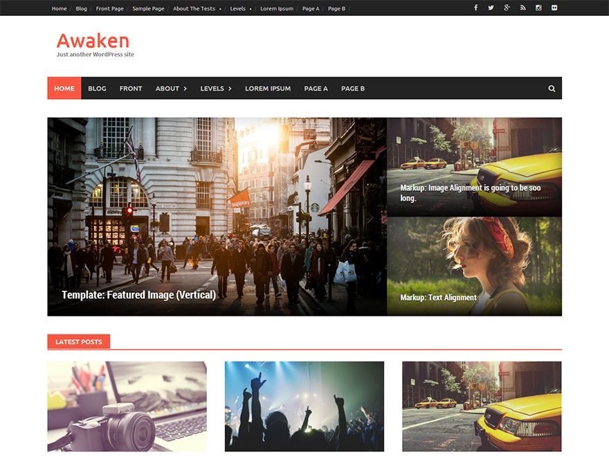 free wordpress themes built with bootstrap awaken