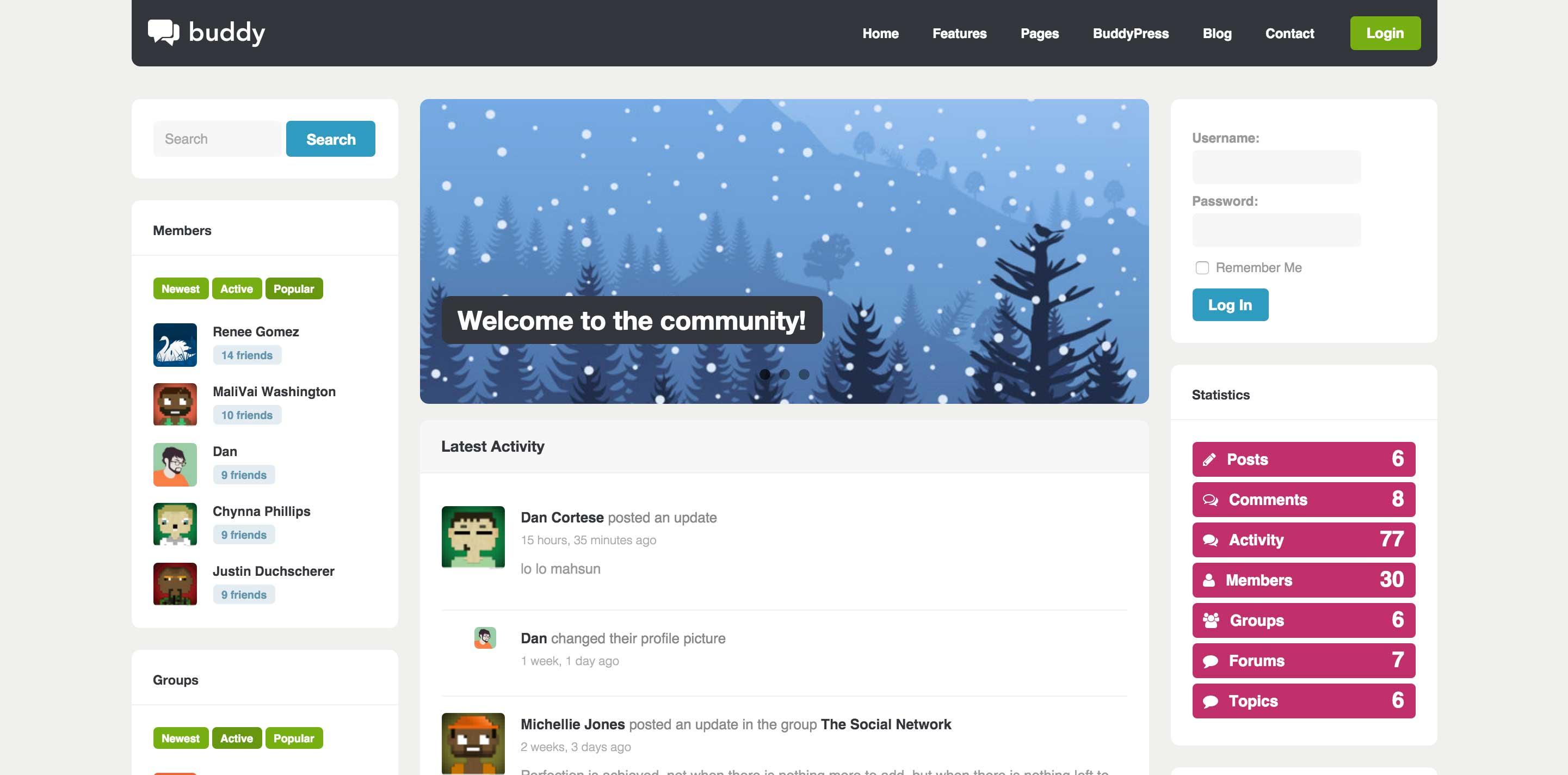 Best BuddyPress WordPress Themes for Community | WPFlask