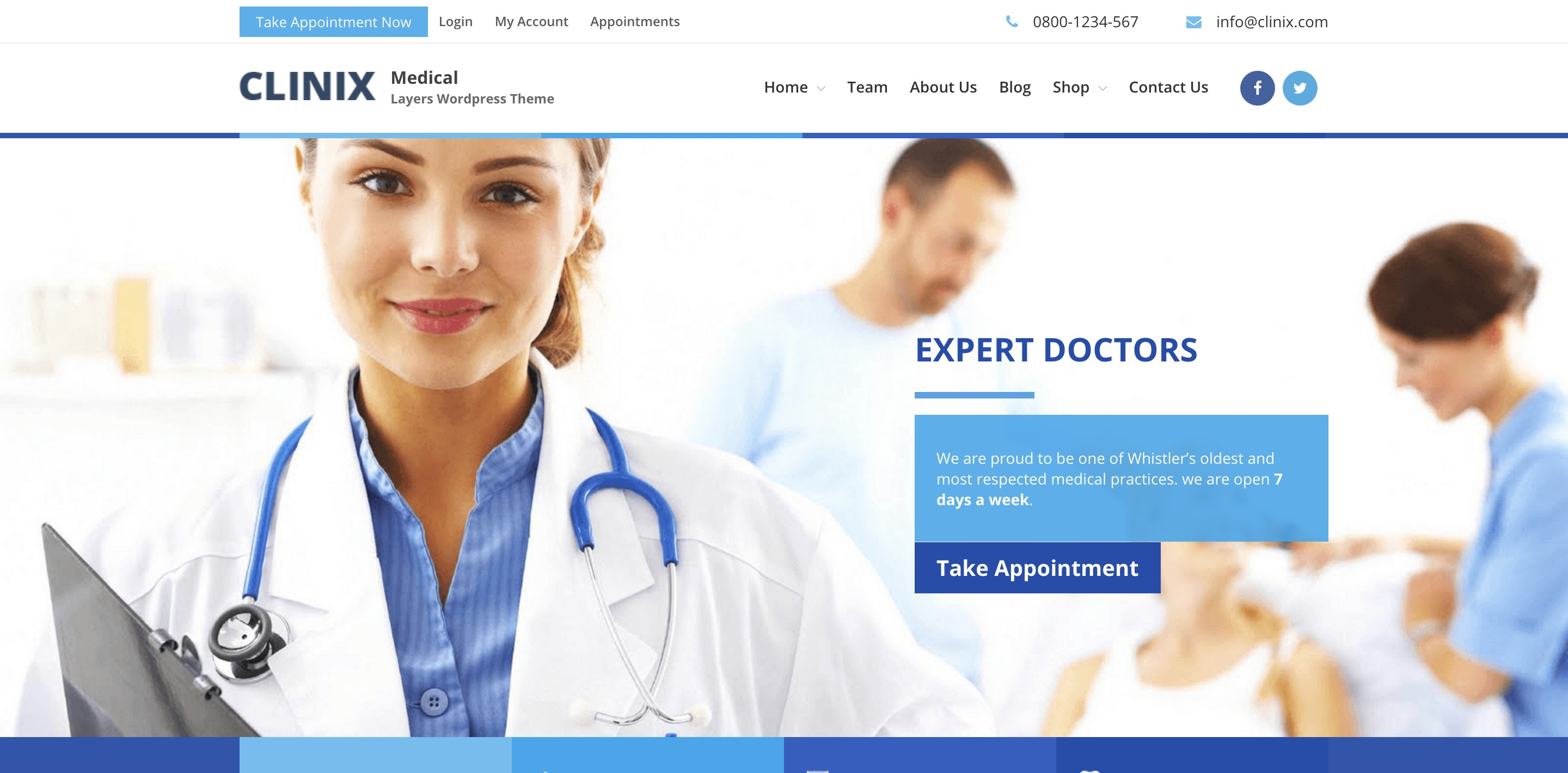 clinix medical medical WordPress themes