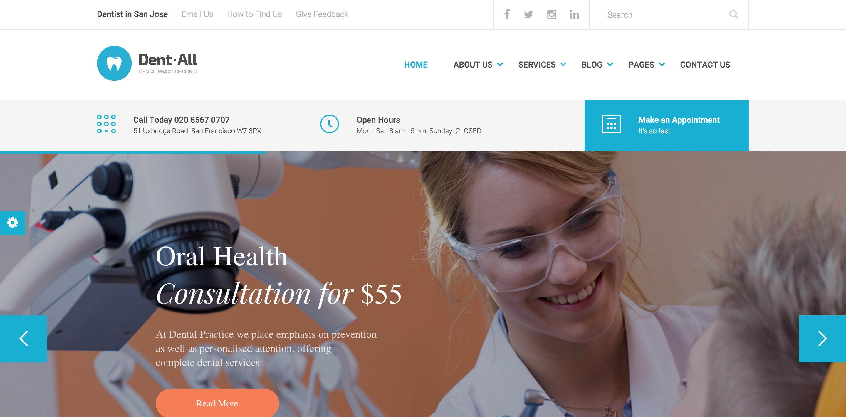 dentall dental medical WordPress themes