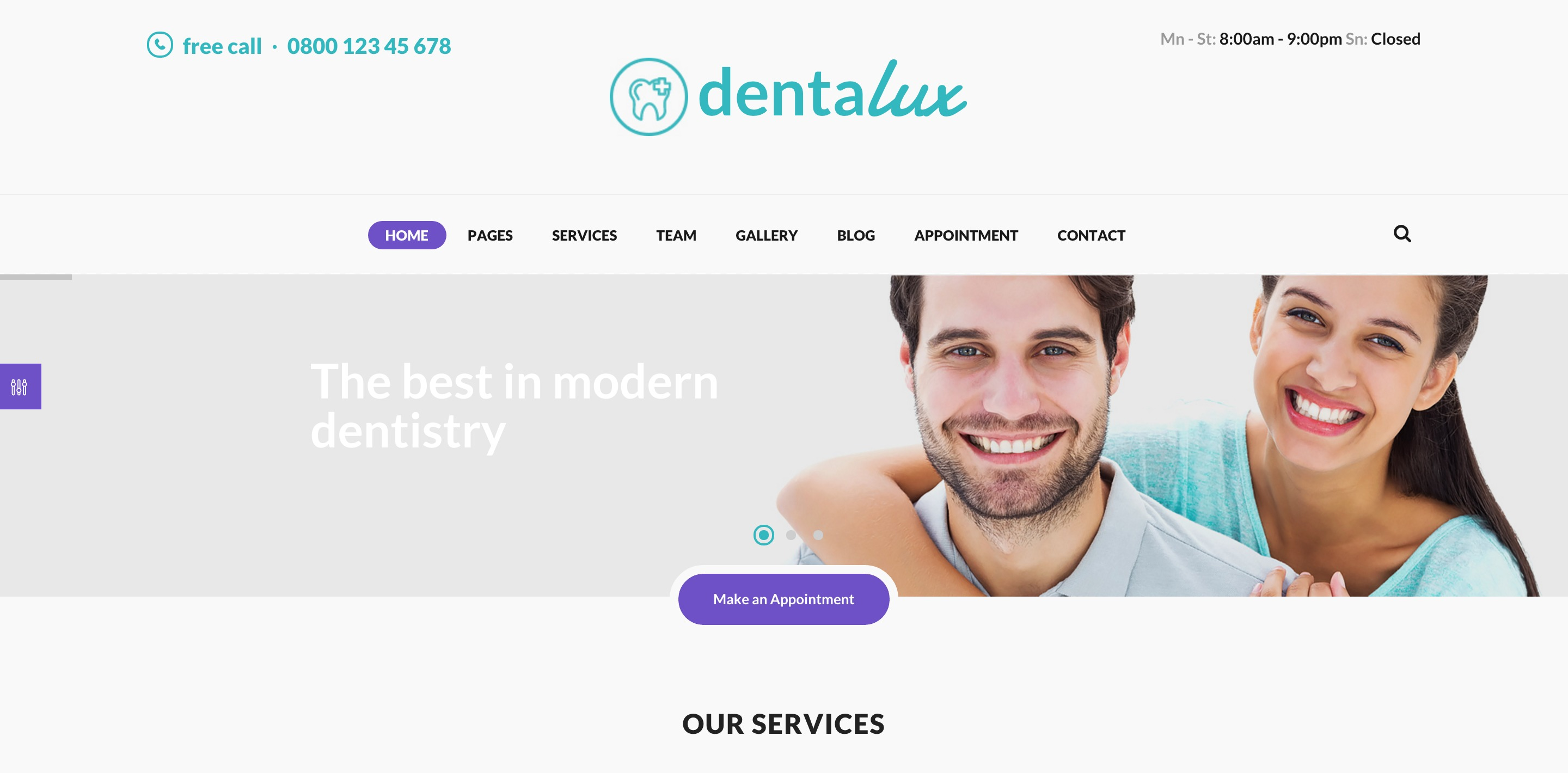 dentalux medical WordPress themes