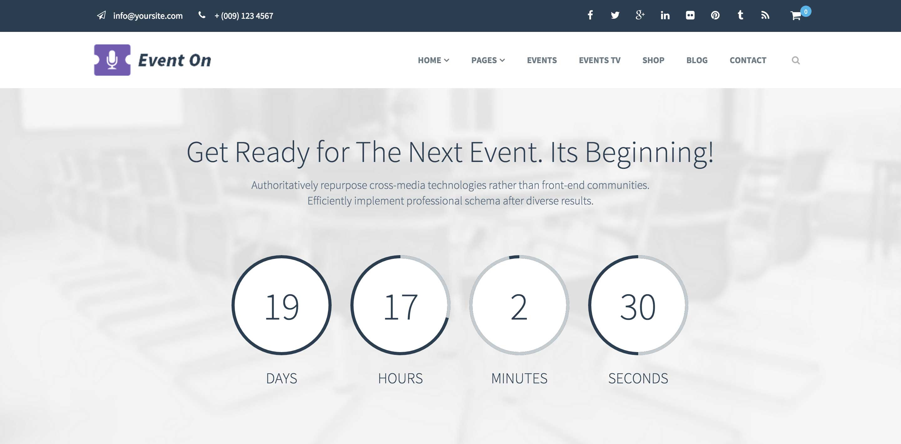event on event wordpress themes
