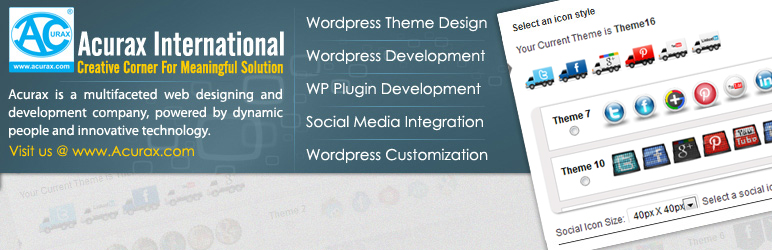 free wordpress social media plugins floating social media icon