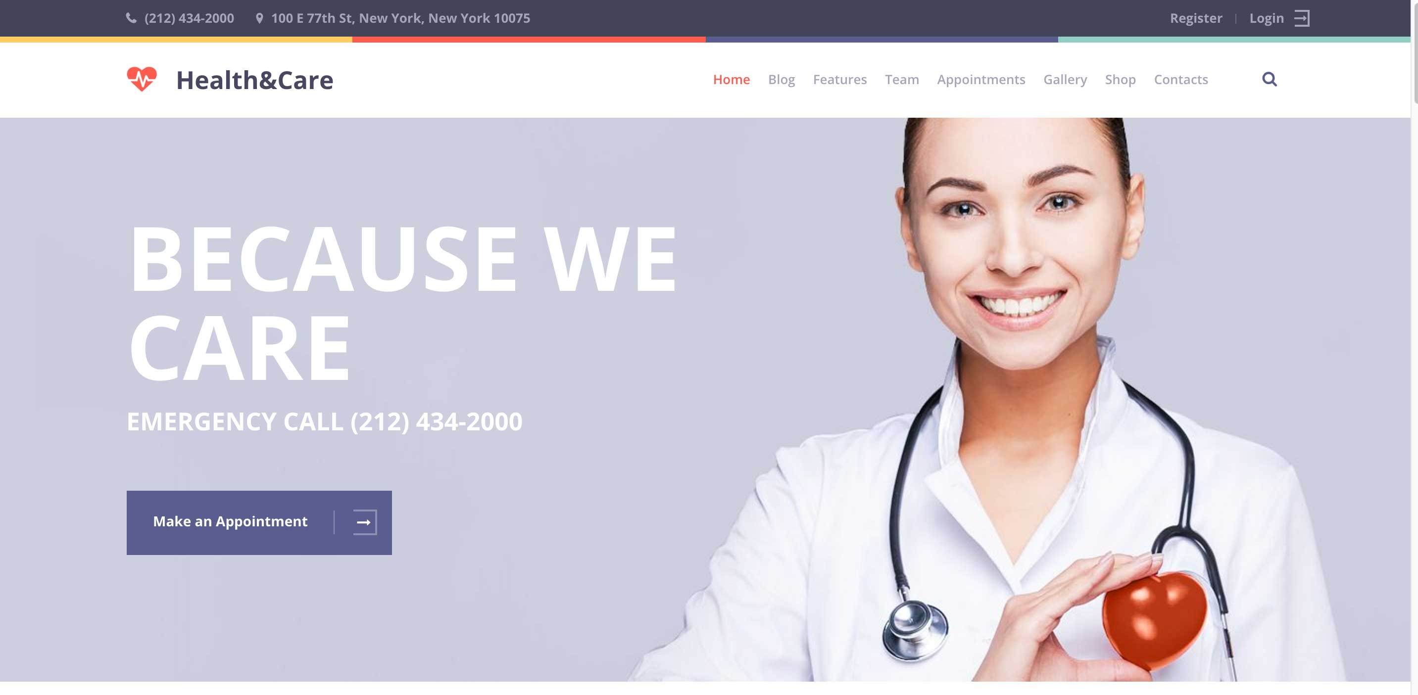 health care medical WordPress theme