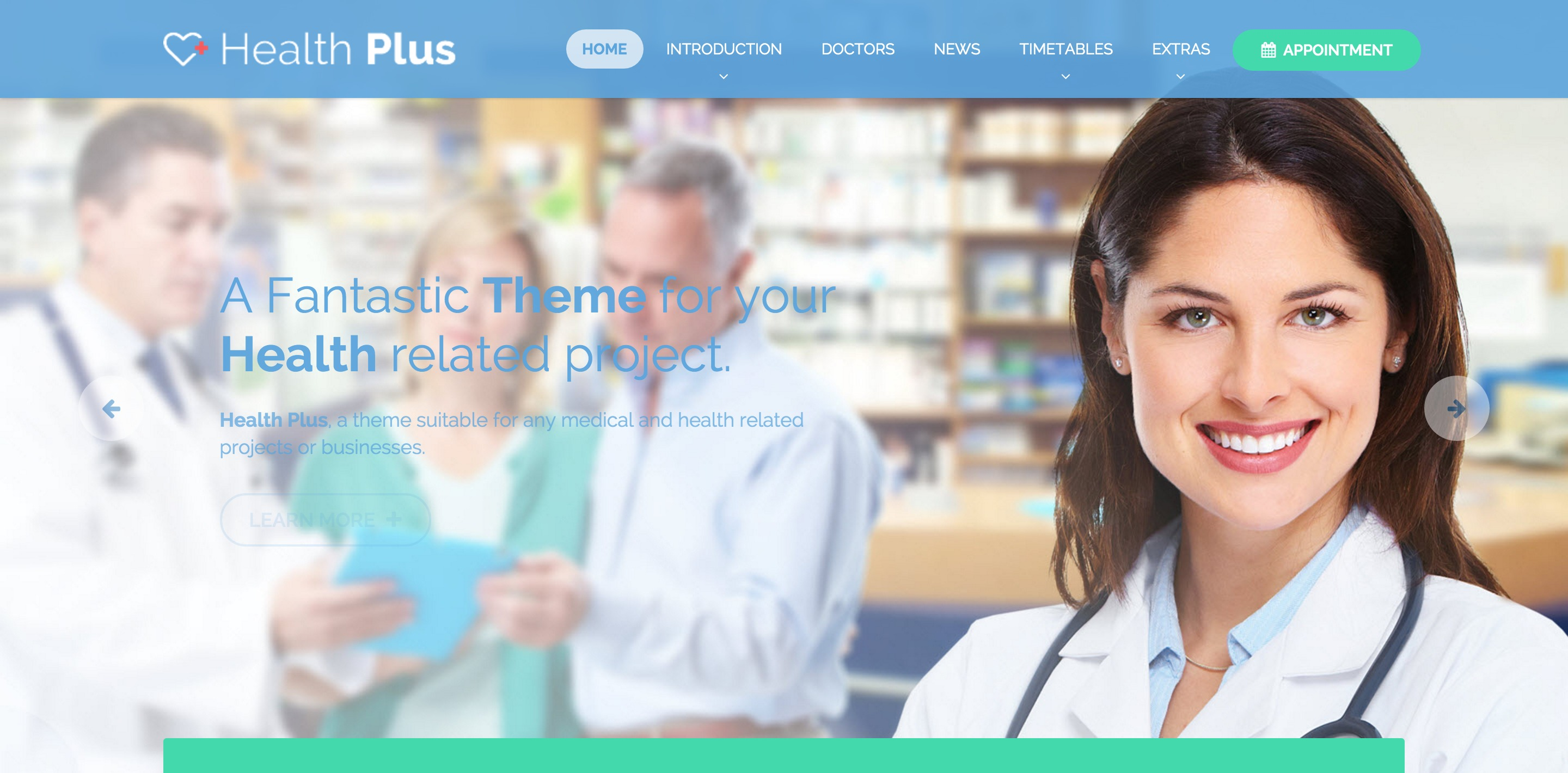 health clinic medical WordPress themes