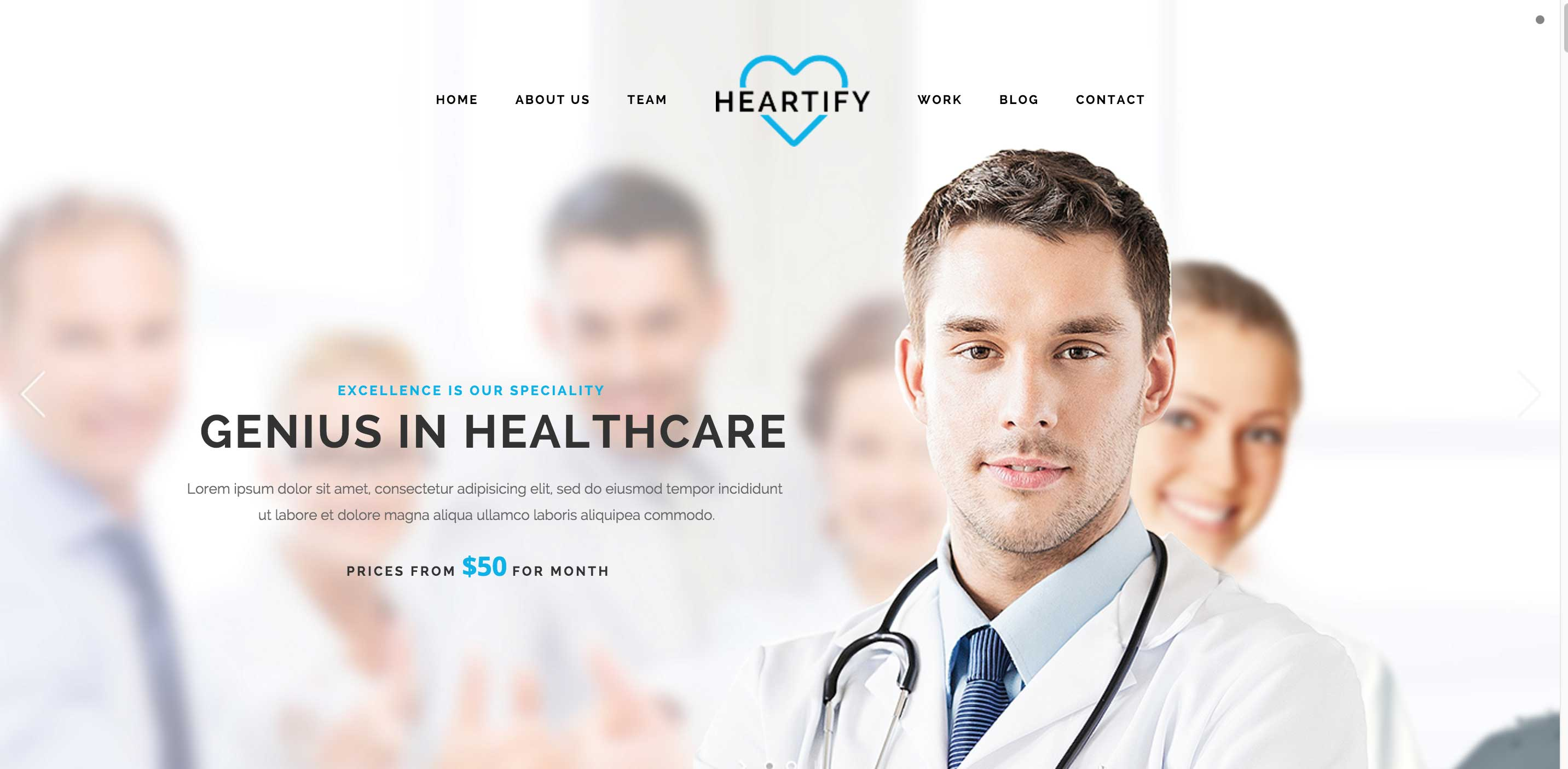 heartily medical WordPress themes