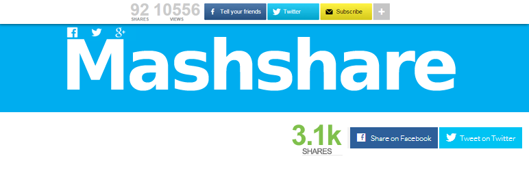 free wordpress social media plugins mashsharer
