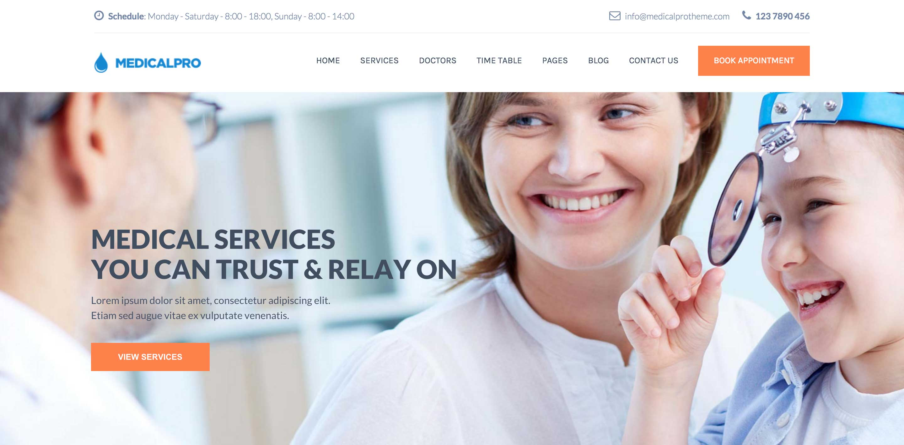medical pro medical WordPress themes
