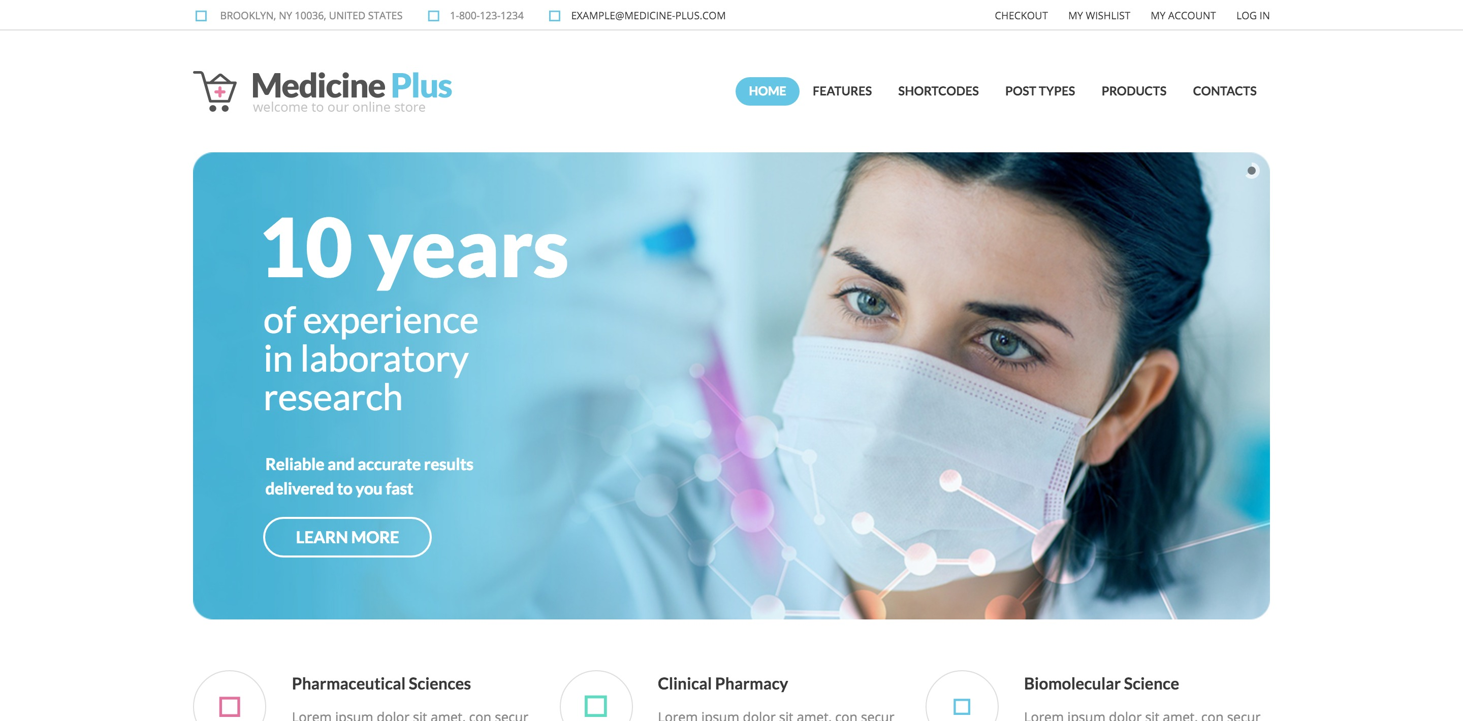 medicine plus medical WordPress theme