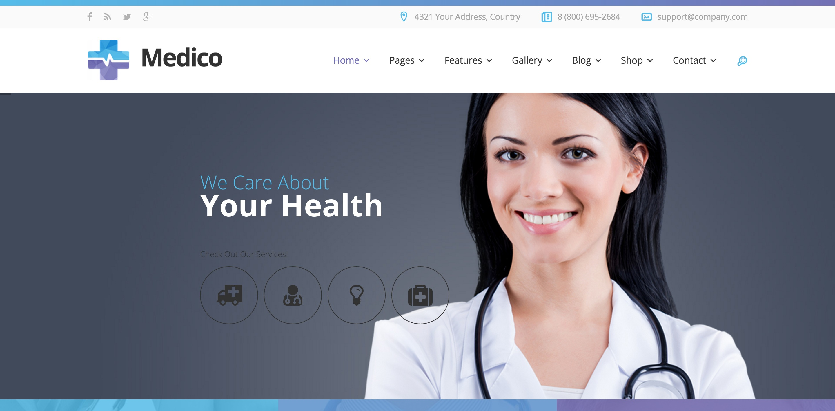medico medical WordPress theme