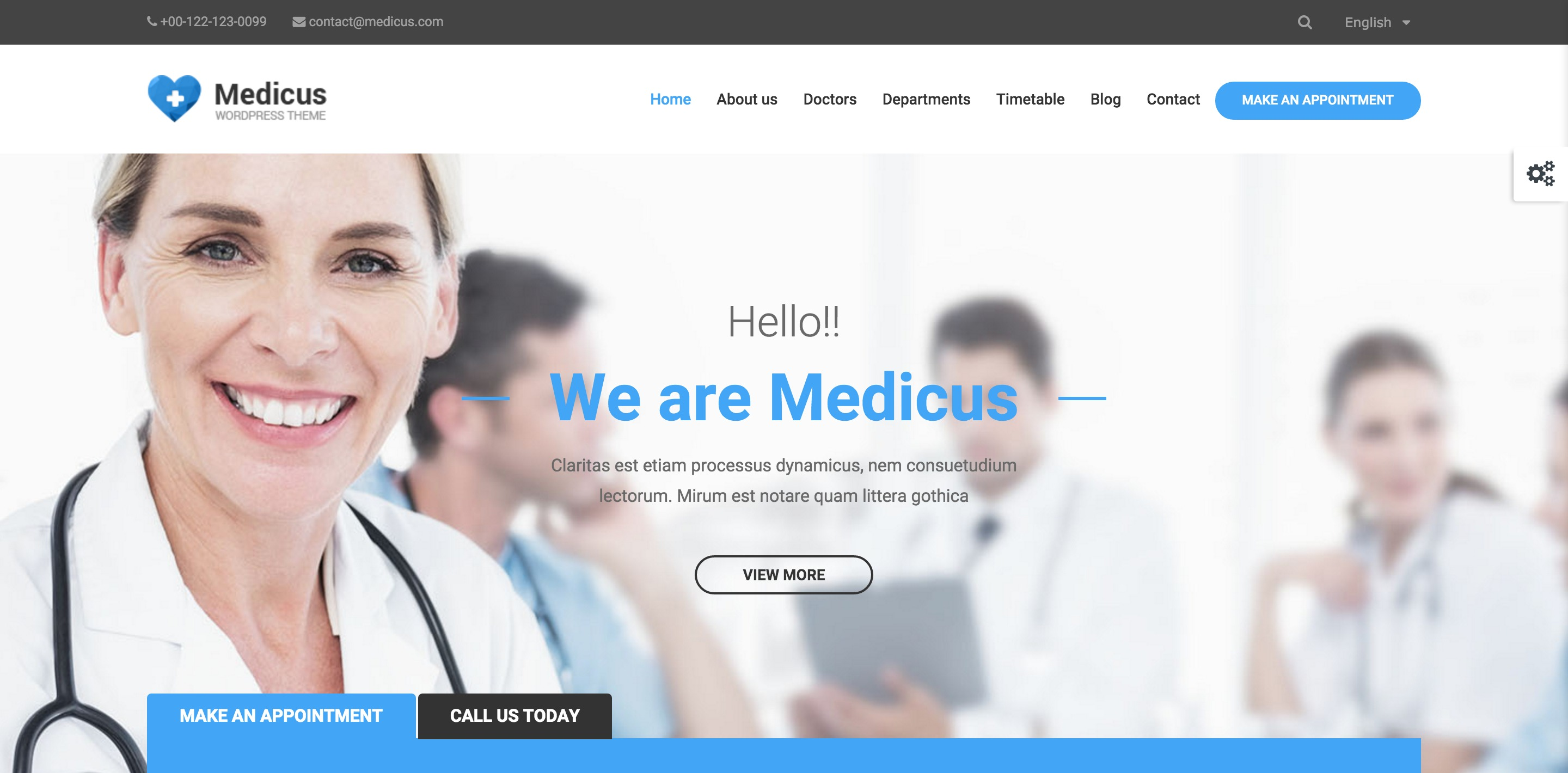 medicus medical WordPress themes
