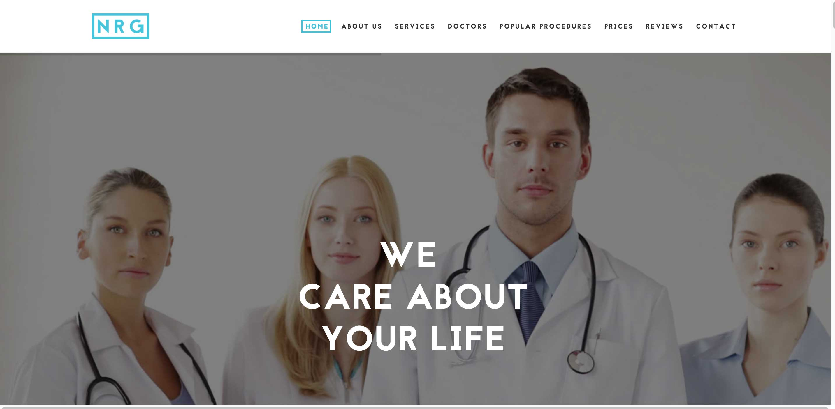 org hospital medical WordPress theme