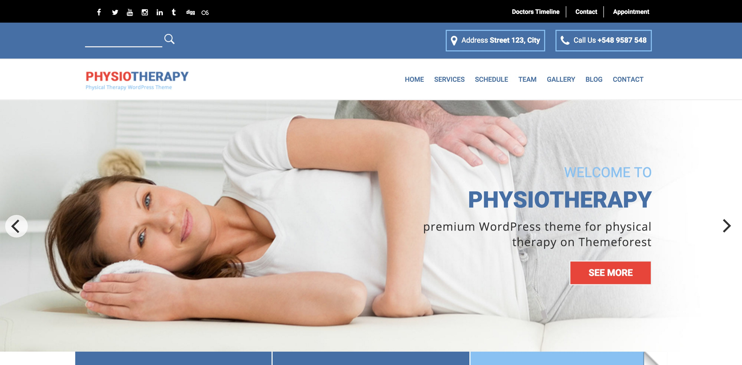 physiotherapy medical WordPress themes