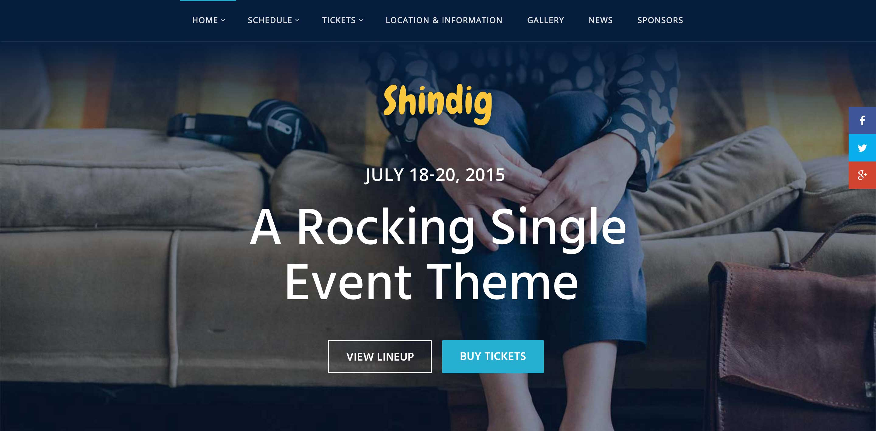 shindig event wordpress themes