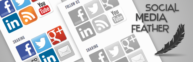 free wordpress social media plugins social media feather
