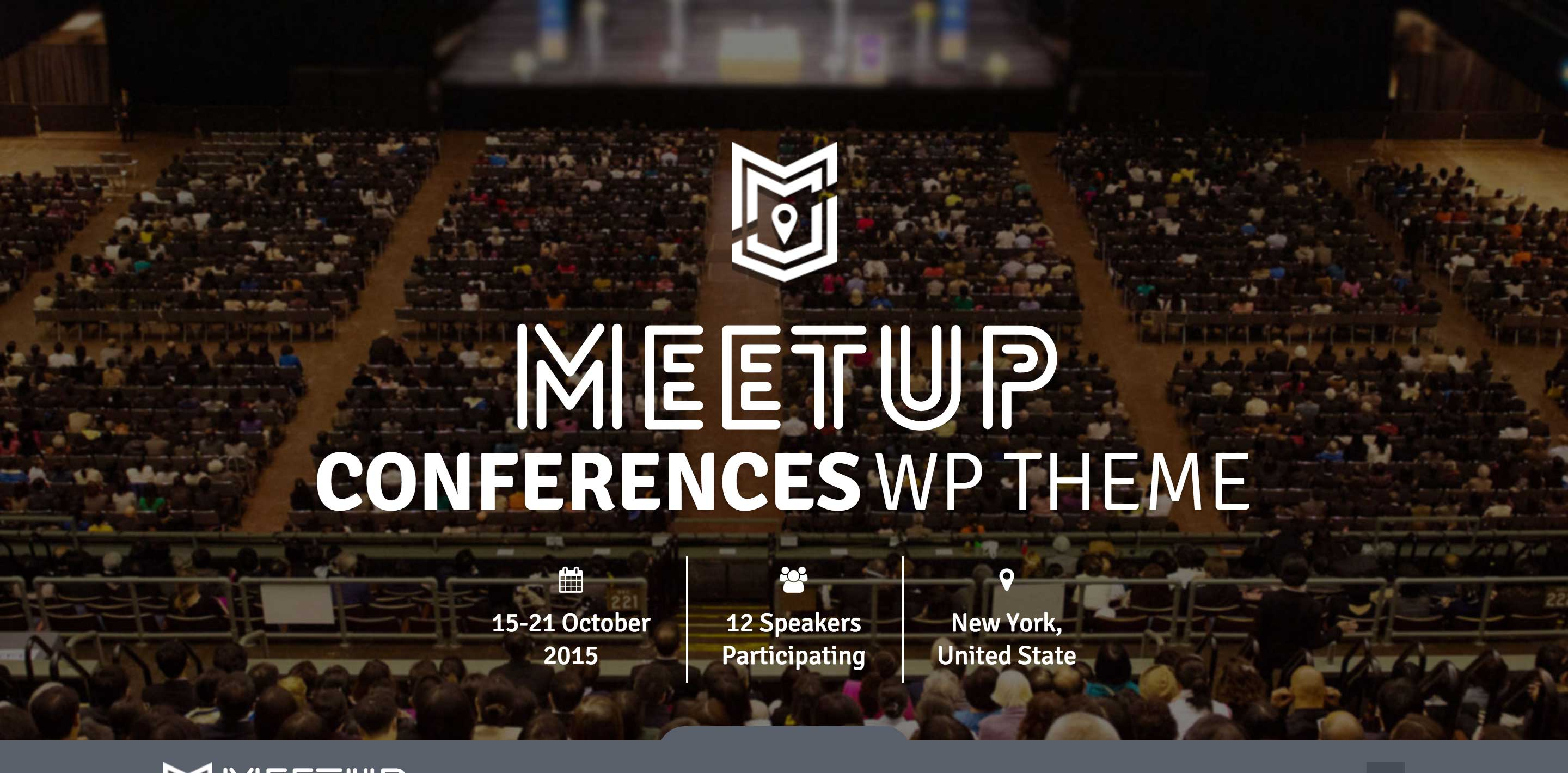 the meetup event wordpress themes