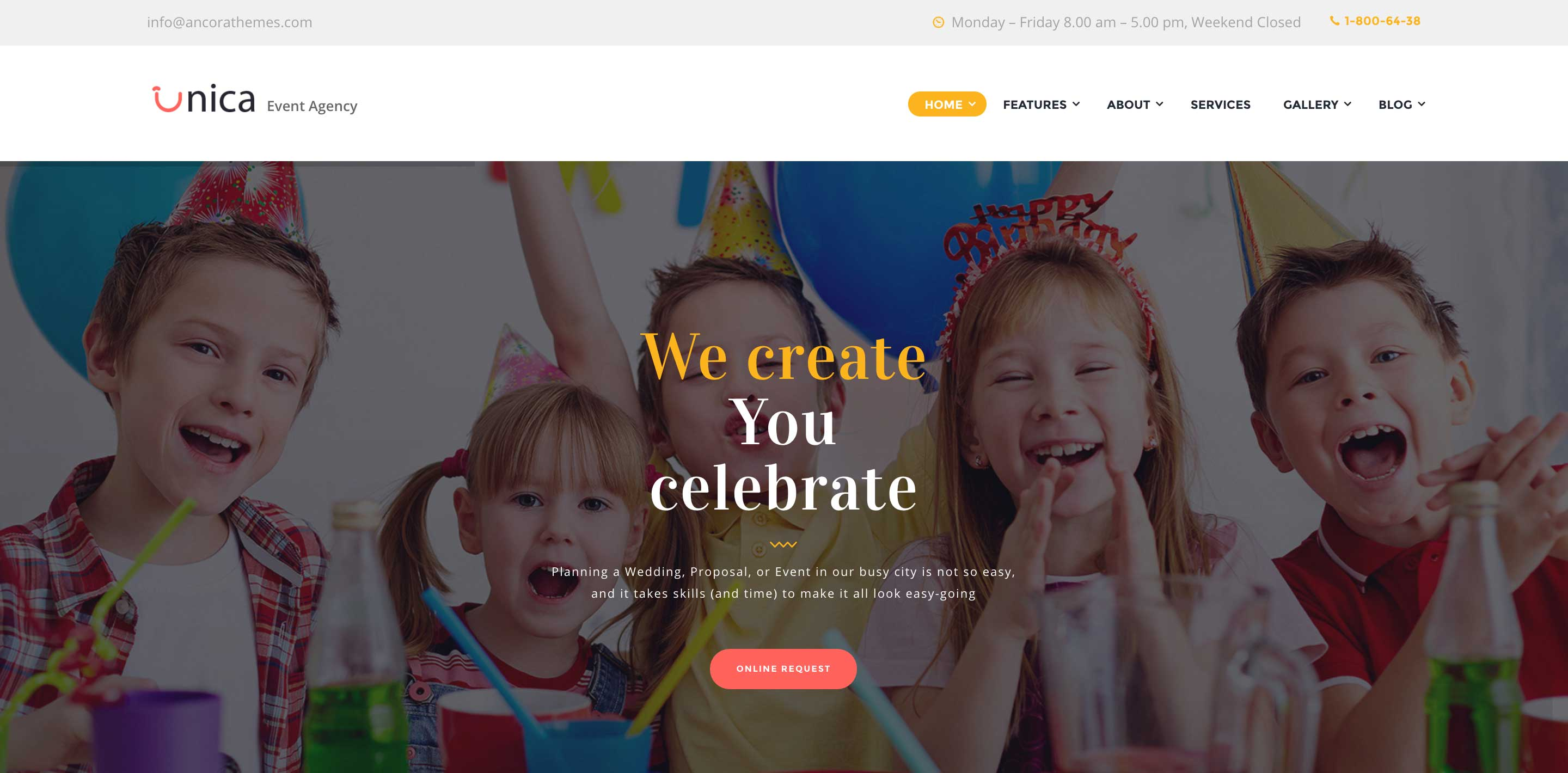 unica event wordpress themes