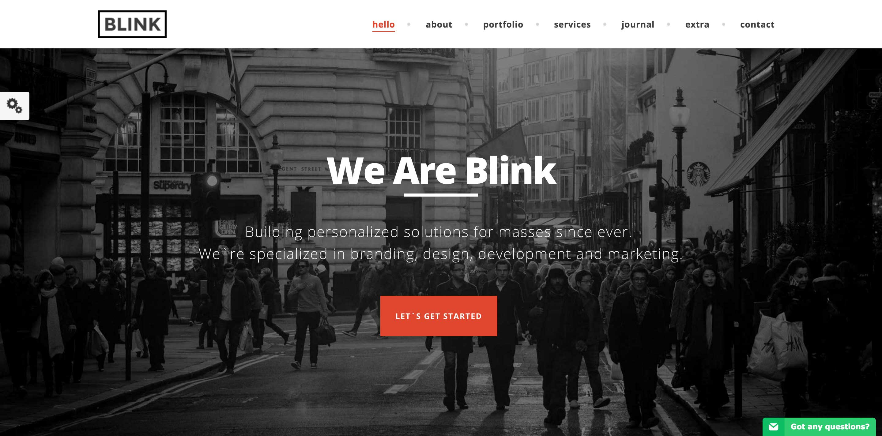 blink one page wordpress themes