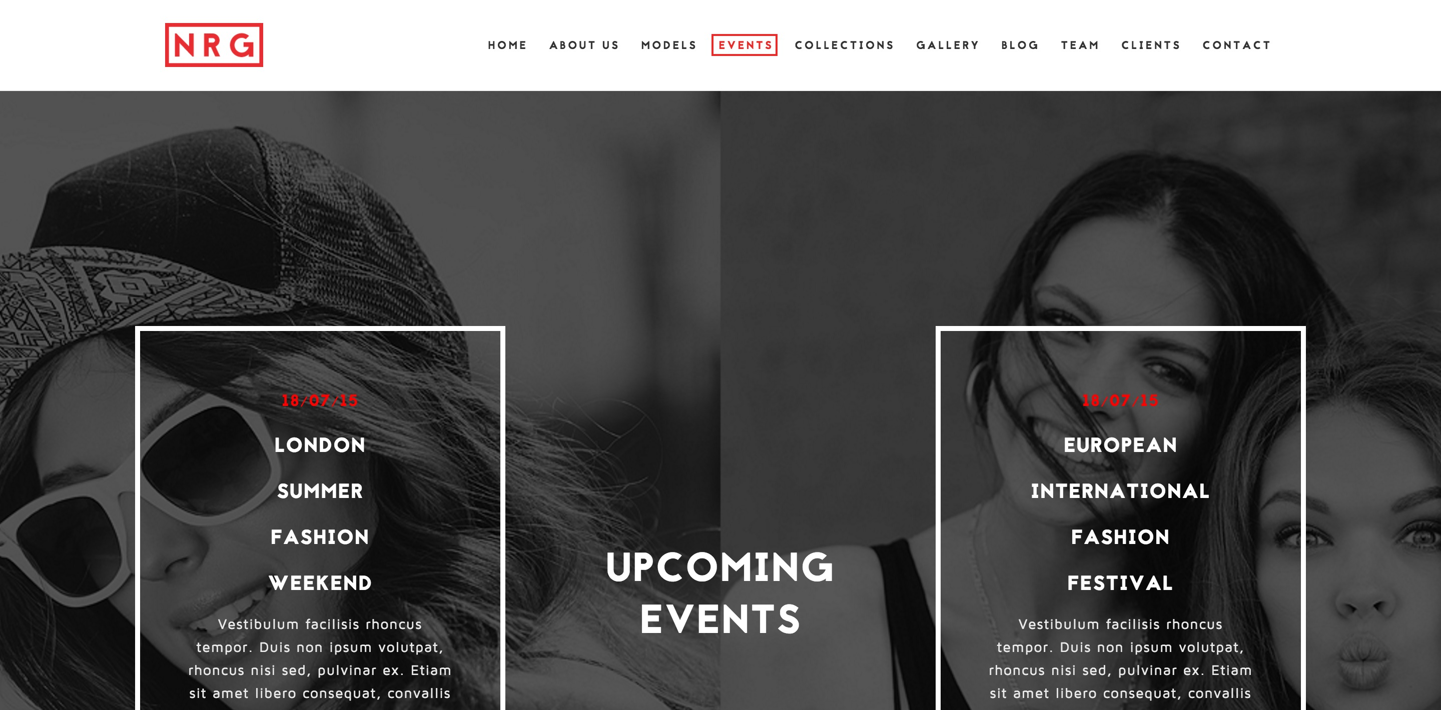 nrg fashion one page wordpress themes