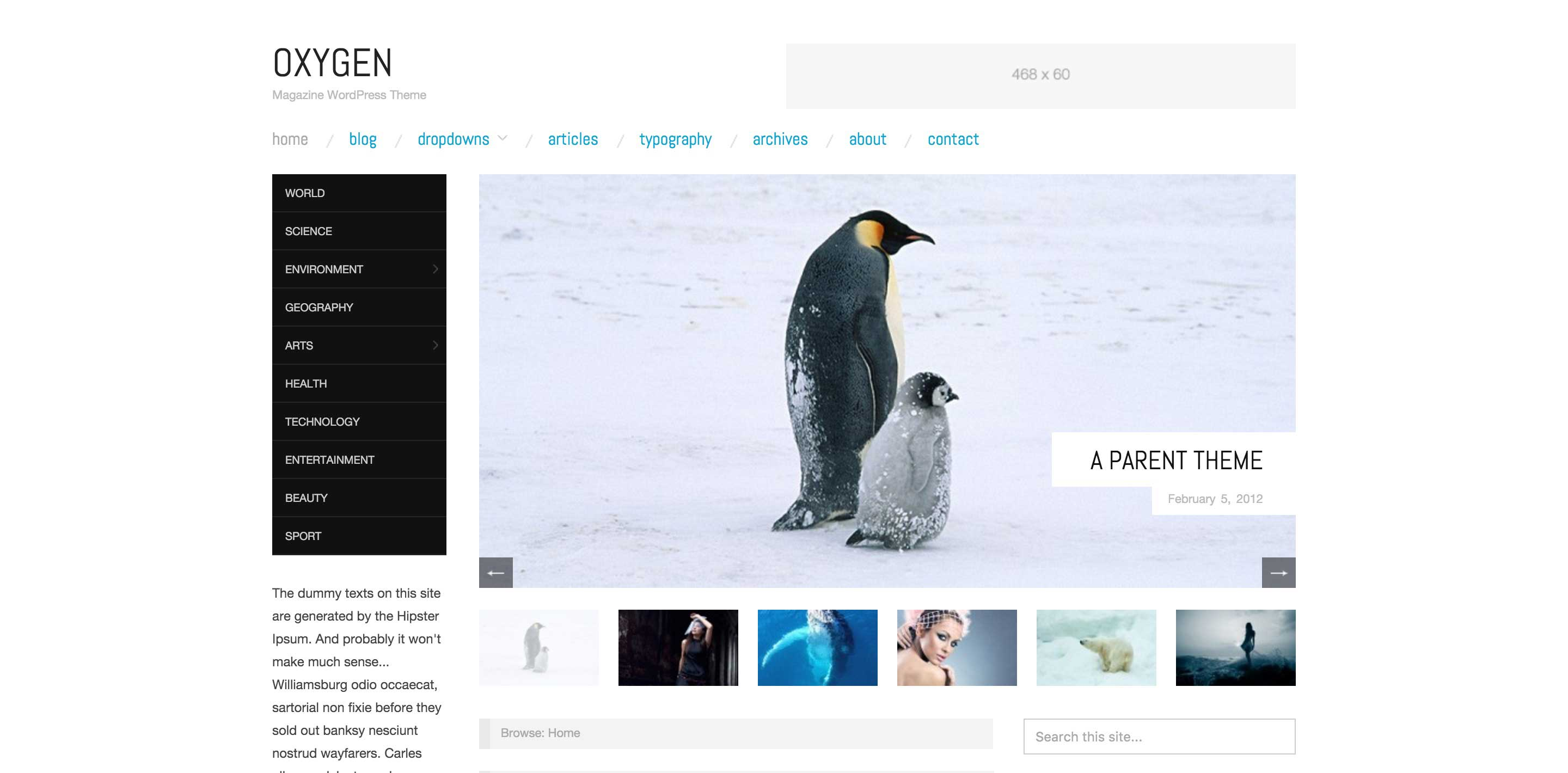 oxygen free magazine wordpress themes