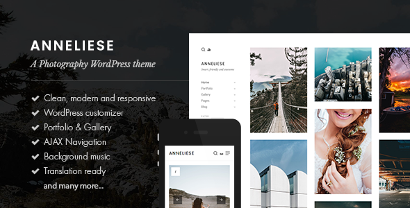 Anneliese - A Photography WordPress Theme