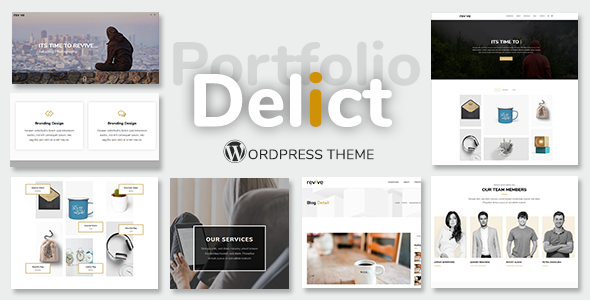 Delict - Simple Agency Multipurpose Portfolio WordPress Theme