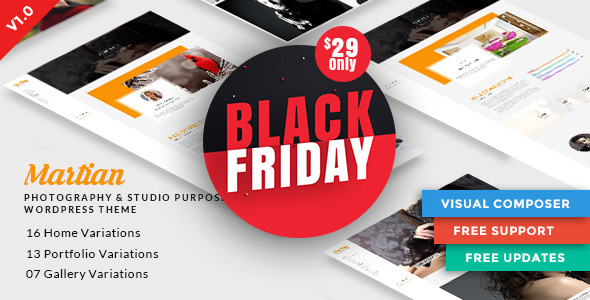 Martian | Photography & Studio Purpose WordPress Theme